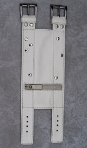 Arm Wallet White Studded