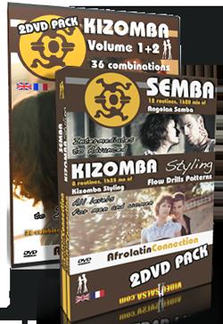 Afrolatin Connection: Kizomba 1&2, Kizomba Styling & Semba int/adv 4 DVD PACK